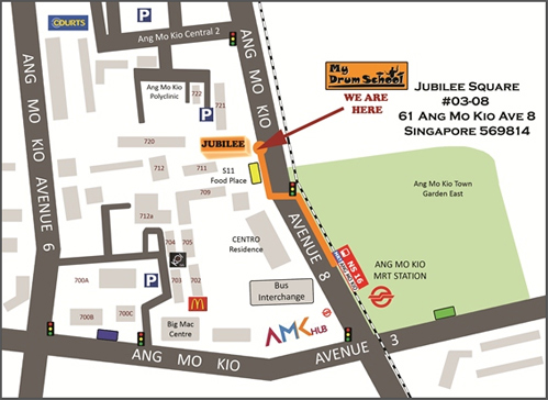Image result for ang mo kio map